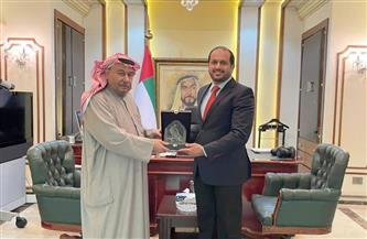 سفير الإمارات لدى  مصر يستقبل نظيره الكويتي