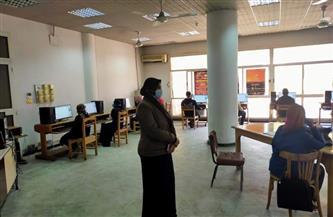 عقد الاختبارات الإلكترونية بكلية التمريض جامعة حلوان | صور