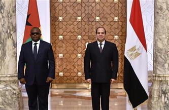 المتحدث الرئاسي ينشر صور استقبال ومباحثات الرئيس السيسي ورئيس غينيا بيساو
