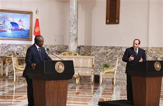 موقع الرئاسة ينشر فيديو لكلمة الرئيس السيسي ورئيس غينيا بيساو خلال المؤتمر الصحفي المشترك