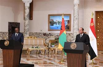 الرئيس السيسي: شرفت اليوم باستقبال رئيس جمهورية غينيا بيساو لتعزيز العلاقات بين البلدين