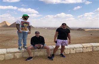 ثلاثة من نجوم لاعبي الدوري الوطني الأمريكي لكرة القدم يبدأون برنامجهم السياحي في مصر |صور