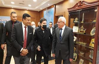 «الغضبان» يستقبل هاني شاكر لإحياء حفل «بورسعيد عاصمة الثقافة المصرية» | صور