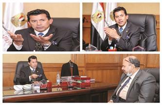 وزير الرياضة فى حوار لـ «الأهرام المسائى»: 1.4 مليار جنيه عوائد استثمارات مراكز الشباب و3 مليارات فى الأندية
