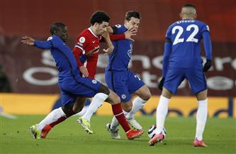 ماونت يحرز هدف التقدم لتشيلسى فى شباك ليفربول