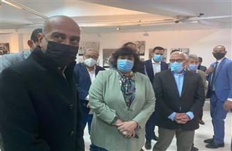 وزيرة الثقافة ومحافظ بورسعيد يتفقدان سيناريو العرض المتحفي الجديد لمتحف الفن التشكيلي| صور