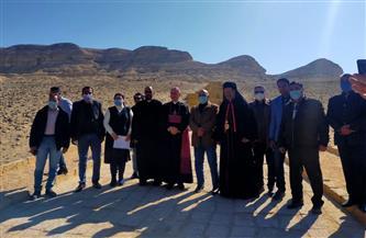 سفير الفاتيكان بالقاهرة يزور منطقة آثار بني حسن بمحافظة المنيا |صور