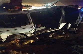15 سيارة إسعاف لنقل ضحايا حادث الصحراوي الشرقي الذي تسبب في مصرع وإصابة 23 شخصًا   صور