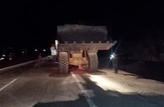 رفع آثار تصادم 5 سيارات بطريق سفاجا - قنا