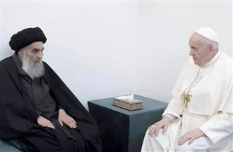 السيستاني يبحث مع بابا الفاتيكان معاناة الشعب الفلسطيني من الحصار والتهجير