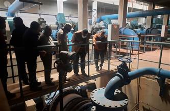 رئيس جهاز مدينة ٦ أكتوبر يتفقد محطة تنقية مياه الشرب التى تخدم المدينة| صور