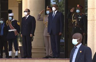 رئيس مجلس السيادة السوداني عبدالفتاح البرهان يستقبل الرئيس السيسي