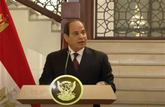 الرئيس السيسي: المرحلة القادمة من العمل المشترك بين مصر والسودان ستمضي قدمًا لمصلحة الشعبين