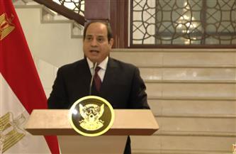 نص كلمة الرئيس السيسي خلال مؤتمر صحفي عقب مباحثات مع رئيس مجلس السيادة السوداني / فيديو