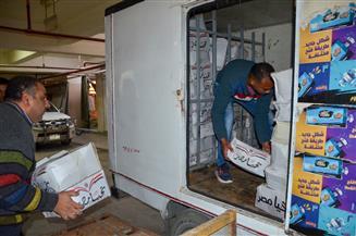 توزيع ٥٠٠ شنطة مواد غذائية للأسر الأكثر احتياجا بالفلكي بالإسكندرية  صور