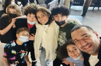 أحدث ظهور للفنانة حلا شيحة ومعز مسعود عقب زواجهما