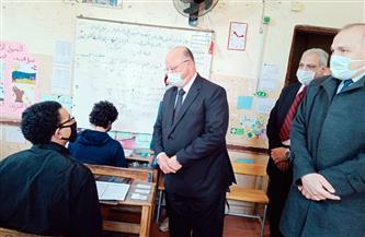 محافظ القاهرة يتفقد سير امتحانات الشهادة الإعدادية