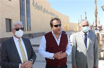 وزير التعليم العالي يتفقد جامعة الملك سلمان الدولية في الطور |صور