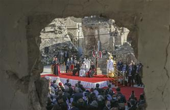 خطاب حزين للبابافرنسيس وسط أطلال كنيسة الطاهرة العراقية | صور