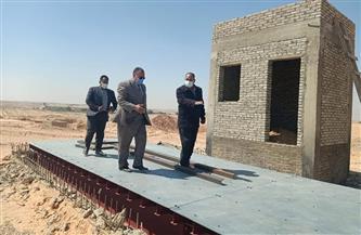 سكرتير عام مساعد أسيوط يتابع تنفيذ المحطة الانتقالية الوسيطة بدشلوط