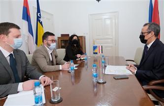 السفير ياسر سرور يناقش مع وزير الصناعة البوسني تعزيز التعاون الاقتصادي  والعلمي | صور