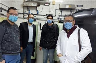 لجنة من صحة الغربية لاستلام قسم الكلى الصناعي بمستشفى السنطة بعد ترميمه | صور
