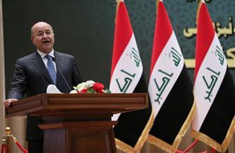 الرئيس العراقي يؤكد ضرورة مواصلة الجهد الأمني لمكافحة الإرهاب
