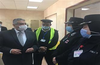 نائب وزير الطيران المدني في زيارة لمطار مرسى مطروح الدولي | صور