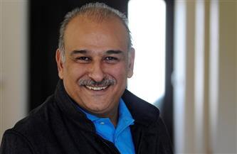 بوسى شلبى تحتفل مع جمال سليمان بنجاح «الطاووس»