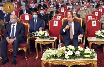 الرئيس السيسي: سيرة الشهيد تحتم على المصريين الحفاظ على بلدهم