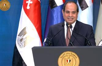 """الرئيس السيسي: نسعى لتغيير حياة المصريين للأفضل من خلال مبادرة """"حياة كريمة"""" لتطوير قرى مصر"""