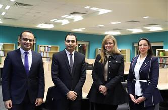 رشا راغب تفتتح مكتبة الأكاديمية الوطنية للتدريب.. وتؤكد: نناقش ربط المكتبة مع شركائنا بالخارج | صور