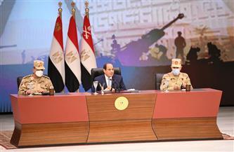 الرئيس السيسي يؤكد لقادة وضباط القوات المسلحة قوة وصلابة إرادة الدولة المصرية بكافة مؤسساتها وأجهزتها