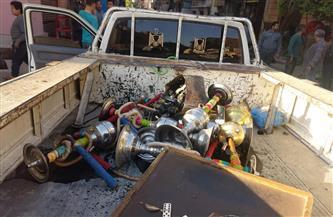 مصادرة 32 شيشة وغلق مقاه وتحرير 12 محضرًا لمخالفة الإجراءات الاحترازية بأسيوط  صور