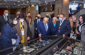 محافظ الإسكندرية ووزيرة الثقافة يشاركان في احتفالية مكتبة الإسكندرية بمئوية ثروت عكاشة | صور