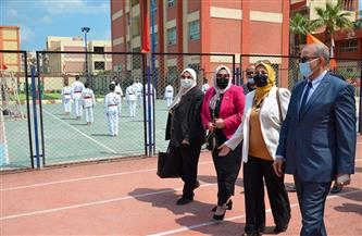افتتاح ملاعب المدرسة الرياضية إعدادي وثانوي بنين ببورسعيد بتكلفة 3 ملايين جنيه | صور