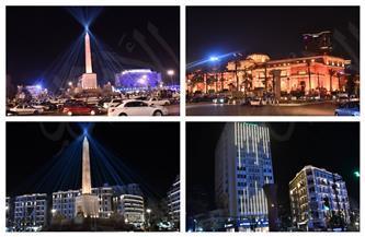 إضاءة المتحف المصري ومسلة ميدان التحرير استعدادًا لنقل المومياوات الملكية| صور