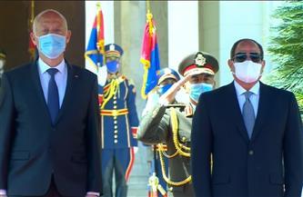 الرئيس السيسي يستقبل نظيره التونسي قيس سعيد بقصر الاتحادية