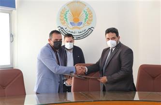 توقيع اتفاقية بين هندسة المنصورة ووكالة الفضاء المصرية |صور