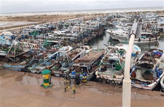 توقف حركة الملاحة بميناء البرلس ومياه البحر المتوسط لشدة الرياح وارتفاع الأمواج