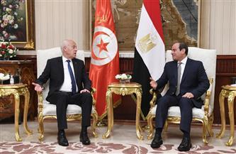 الرئيس السيسي ونظيره التونسي يتوافقان على ضرورة تكثيف التنسيق المشترك وتدعيم التعاون الأمني