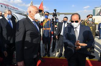 الرئيس السيسي ونظيره التونسي يتوافقان حول ضرورة تدعيم التعاون الأمني وتبادل المعلومات