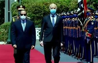 الرئيس السيسي: أرحب بأخي الرئيس قيس سعيد في أول زيارة رسمية له إلى بلده الثاني مصر