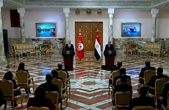 بث مباشر للمؤتمر الصحفي المشترك بين الرئيس السيسي ونظيره التونسي قيس سعيد