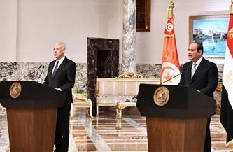 المتحدث الرئاسي ينشر صور استقبال ومباحثات الرئيس السيسي مع نظيره التونسي