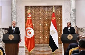 أبرز ما جاء فى كلمة الرئيس السيسي خلال المؤتمر الصحفى المشترك مع نظيره التونسي