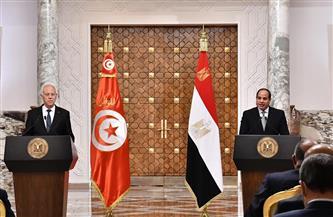 نص كلمة الرئيس السيسي خلال المؤتمر الصحفي المشترك مع نظيره التونسي بقصر الاتحادية