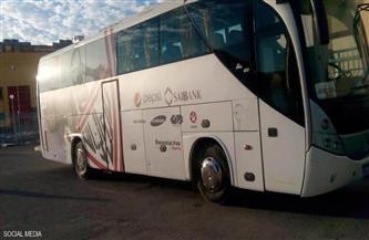 حافلة الزمالك تصل ستاد القاهرة استعدادا لتونجيت