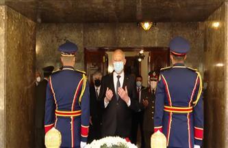 الرئيس التونسي يزور أضرحة الرئيسين الراحلين «عبدالناصر» و«السادات» | فيديو