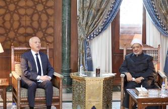 الرئيس التونسي والإمام الأكبر يتفقان على تشكيل لجنة علمية لخدمة الثقافة الإسلامية | صور